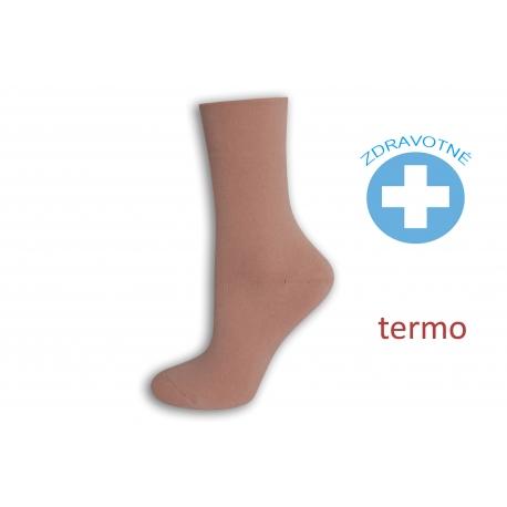 Obľúbené teplé zdravotné ružové ponožky