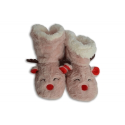 Ružové vysoké papuče s podrážkou