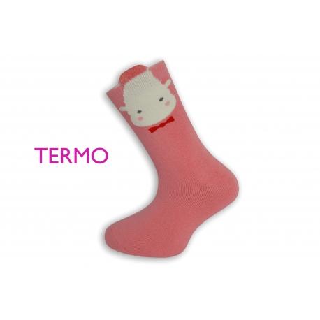 IBA 32-35! Ružové teplé ponožky s obrázkom
