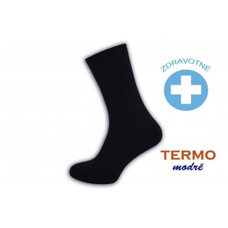 Modré teplé zdravotné ponožky