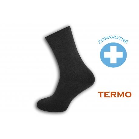 Šedé teplé zdravotné ponožky