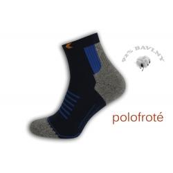 Polofroté športové ponožky - modré