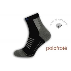 Polofroté športové ponožky - čierne