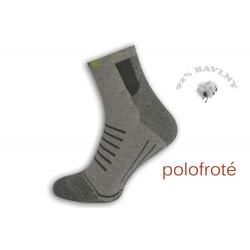 Polofroté športové ponožky - sivé