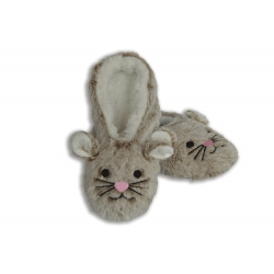 Jemnučké plyšové kapučínové papuče
