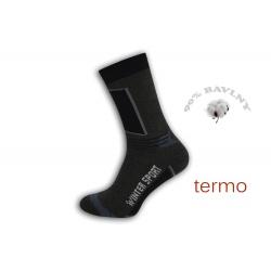 Športové šedé vysoké teplé ponožky