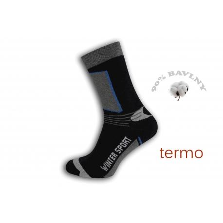 Športové čierne vysoké teplé ponožky