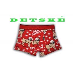 Vianočné boxerky pre chlapcov so psíkom