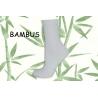 Biele bambusové vysoké ponožky