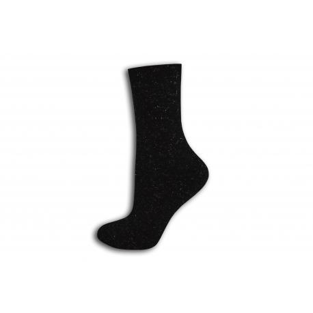 Čierne trblietavé teplé ponožky