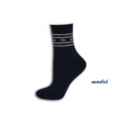 Modré bodkované zdravotné ponožky
