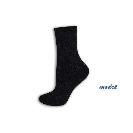 Modré trblietavé teplé ponožky