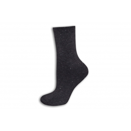 Fialové trblietavé teplé ponožky