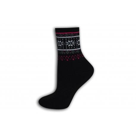 Čierne teplé ponožky bez lemu