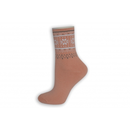 Ružové teplé ponožky bez lemu