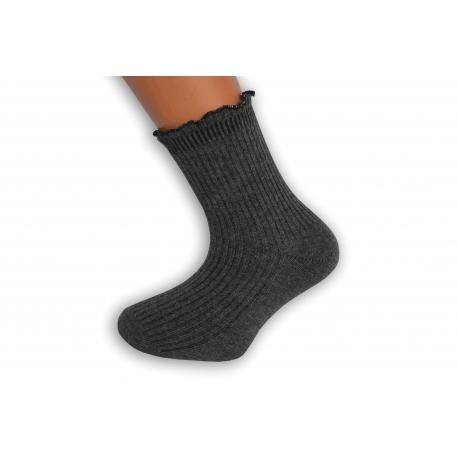 Šedé ponožky s trblietavám lemom