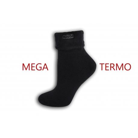 Mega termo ponožky so zdravotným lemom - šedé