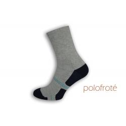 Polofroté sivé športové ponožky
