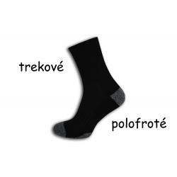Trekové polofroté čierne ponožky