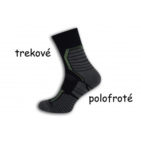 Trekové polofroté modré ponožky