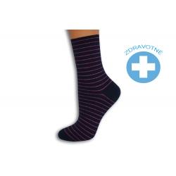 Pásikavé modro-fialové dámske ponožky