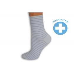 Pásikavé bielo-fialové dámske ponožky