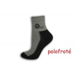 Sivo-šedé polofroté ponožky