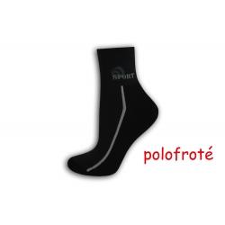 Čierno-šedé polofroté ponožky
