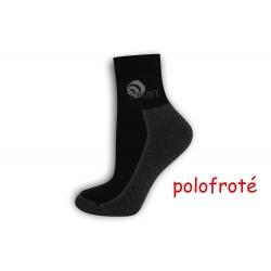 Šedo-čierne polofroté ponožky