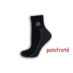 Modro-šedé polofroté ponožky