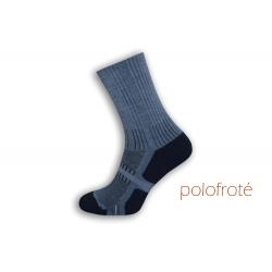 Teplé športové modré ponožky