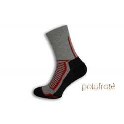 Teplé športové sivé ponožky