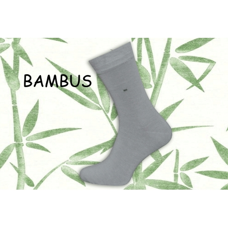 Obľúbené bl.sivé bambusové ponožky s jemným vzorom