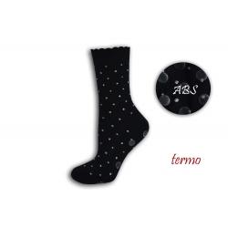 Teplé bodkované protišmykové ponožky