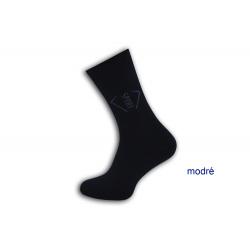 Tm. modré pánske termo ponožky. SPORT.