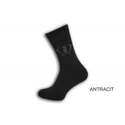 Šedé pánske termo ponožky. SPORT.