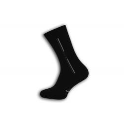 Štýlové čierne teplé pánske ponožky. DESIGN.