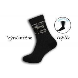 Prírodné výnimočne teplé ponožky - čierne