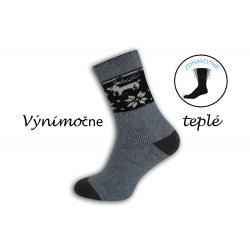 Prírodné výnimočne teplé ponožky - bl. modré