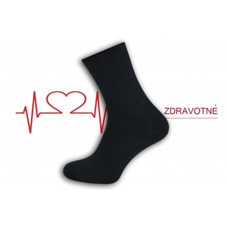 Dobré teplé ponožky na opuchnuté nohy - čierne