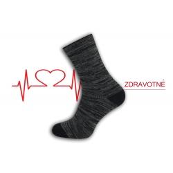 Dobré zdravotné teplé ponožky - modrý melýr