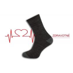 Dobré teplé zdravotné ponožky - hnedý melýr