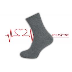 Dobré teplé zdravotné ponožky - sivé