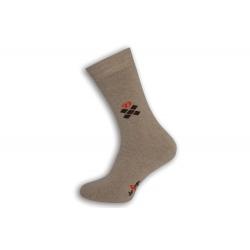 Prírodné teplé pánske ponožky so vzorom