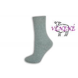 OVEČKY. Dámske vlnené modré ponožky