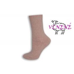 OVEČKY. Dámske vlnené ružové ponožky