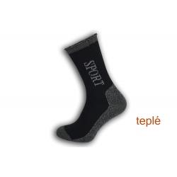 Sport. Teplé ponožky s voľným lemom - modré
