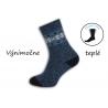 Modré výnimočne teplé pánske ponožky
