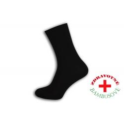 Rebrované bambusové čierne ponožky