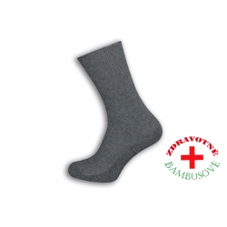 Rebrované bambusové šedé ponožky